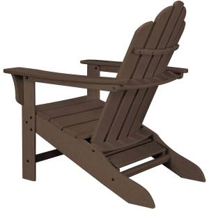 Hanover HDPE Frame Adirondack Chair with Ottoman