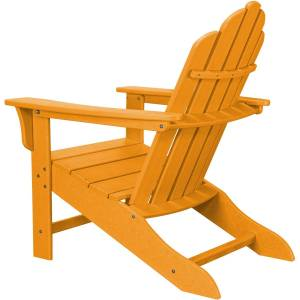 Hanover Polypropylene Frame Adirondack Chair with Ottoman