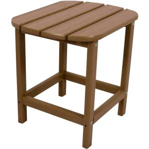 Hanover Square Brown All Weather Collection Side Table