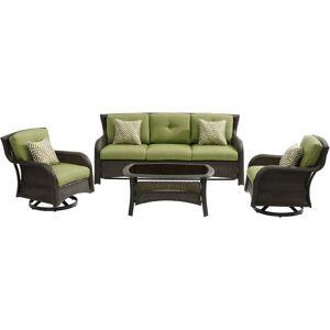 Hanover Strathmere 4 pc. Aged Barrel Steel Steel Lounge Cilantro Green