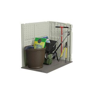 Suncast 4 ft. x 2 ft. Plastic Horizontal Storage Shed with Floor Kit