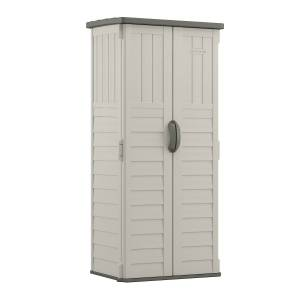 Suncast 2 ft. x 2 ft. Plastic Vertical Storage Shed with Floor Kit