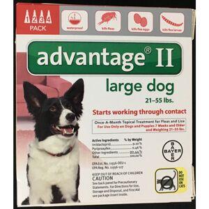 Bayer Advantage II Liquid Dog Flea Drops 4 pk