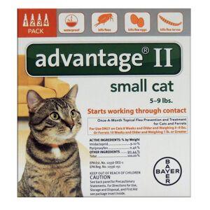 Bayer Advantage II Liquid Cat Flea Drops Imidacloprid/Pyriproxyfen 0.056 oz.