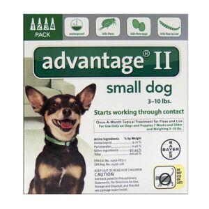 Bayer Advantage II Liquid Dog Flea Drops Imidacloprid/Pyriproxyfen 0.056 oz.