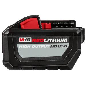 Milwaukee M18 REDLITHIUM HD12.0 18 volt 12 Ah Lithium-Ion Starter Kit Battery and Charger 2 pc