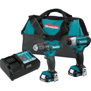 Makita CXT 12 volt Cordless Brushed 2 tool Drill/Driver and Impact Driver Combo Kit