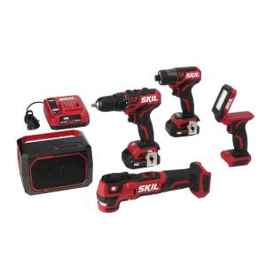 Skil PWRCore 12 12 volt Cordless Brushless 5 tool Drill and Driver Kit