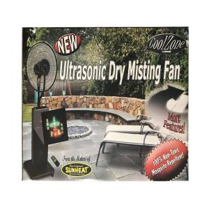 SUNHEAT CoolZone 51 in. H x 18 in. Dia. 9 speed Oscillating Misting Fan