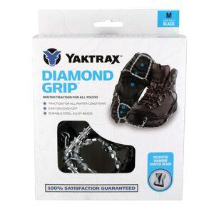 Yaktrax DIAMOND GRIP Unisex Rubber/Steel Snow and Ice Traction Black M 13-15 Waterproof 1 pai