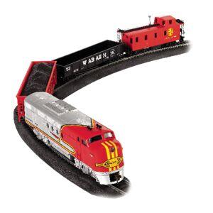 Bachmann Santa Fe Flyer Train Set Plastic/Steel Multi-Colored 18 pc.