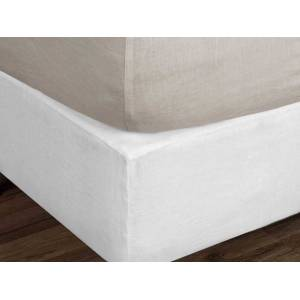Arhaus Ava King Fitted Sheet In Fawn