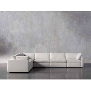 Arhaus Beale Upholstered Six Piece L-Shaped Sectional