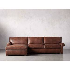 Arhaus Colby Leather Left Arm Sectional
