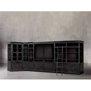 Arhaus Athens Large Wall Unit In Tuxedo Black