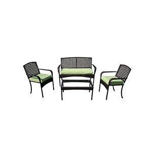 Kontiki Conversation Sets - Metal Sofa Sets - Viona 4 Piece Conversation Set - Green