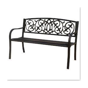 Kontiki Porch Seating - Steel Benches - Steel Filigree Slat Seat Bench