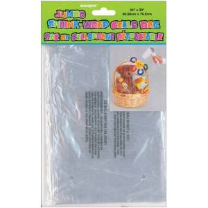 "Unique Wholesale Jumbo Shrink Wrap Cellophane Bag - 24"" x 30""(10x$1.97)"
