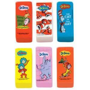 Dr. Seuss Wholesale Dr. Seuss Beveled Eraser(48x$0.42)