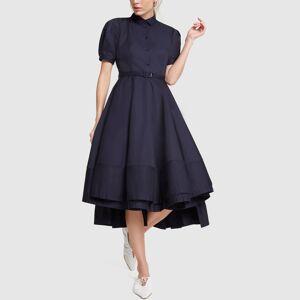 Co Sateen Blue Dress in Black, Large  - Black - Size: Large