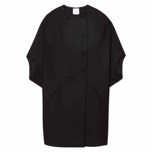 G. Label Laurie Cocoon Coat in Black, Size 4  - Black - Size: 4