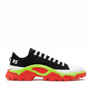 Adidas By Raf Simons Rs Detroit Runner Shoes Sneakers in C Black/Silver/Red, Size M 8.5 / W 9.5  - C Black/Silver/Red - Size: Medium