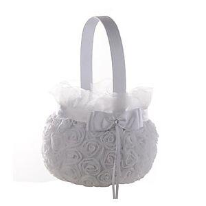 Flower Basket Satin / Lace 9 (23 cm) 1 pcs