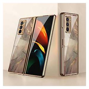 Samsung Case For Samsung Galaxy Galaxy Z Flip / Galaxy Z Fold 2 / W20 / Fold 1 Shockproof / Plating / Ultra-thin Back Cover Color Gradient / Scenery / Geometric Patter