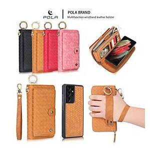 Samsung Phone Case For Samsung Galaxy Full Body Case Wallet Card S21 S21 Plus S21 Ultra S20 S20 Plus S20 ultra S9 S9 Plus S8 Plus S8 Wallet Card Holder Shockproof Soli