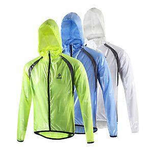 Arsuxeo Men's Cycling Jacket Winter Spandex Bike Raincoat Waterproof Windproof Breathable Sports White / Light Green / Blue Mountain Bike MTB Road Bike Cycling