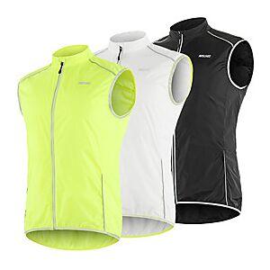 Arsuxeo Men's Cycling Vest White Black Green Solid Color Bike Vest / Gilet Windproof UV Resistant Quick Dry Reflective Strips Back Pocket Sports Solid Color Mo