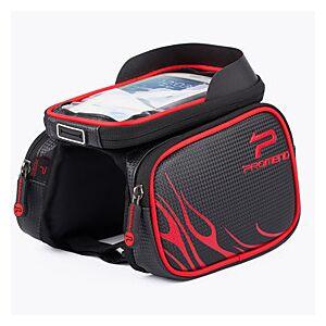 PROMEND 10 L Cell Phone Bag Bike Frame Bag Top Tube Bike Handlebar Bag Touch Screen Multifunctional Rain Waterproof Bike Bag 600D Ripstop EVA Bicycle Bag Cycle