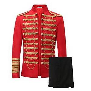 Prince Suits Victorian Napoleon Jacket Pants Cosplay Costume Blazer Jacket  Pants Tuxedo Men's Lace Costume Black / Red Vintage Cosplay Long Sleeve / Top / Top
