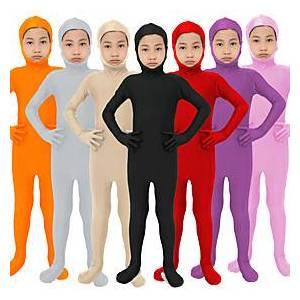 Jumpsuit Kid's Kids Lycra Spandex Cosplay Costumes Solid Color Footless Tights N / A New Year / Zentai / Zentai / High Elasticity