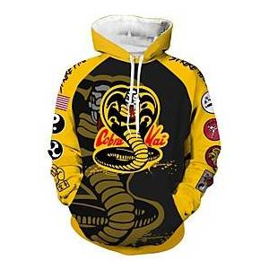Cobra Inspired by Cobra Kai the Karate Kid Cobra Kai Cosplay Costume Hoodie Terylene Print Printing Hoodie For Women's / Men's