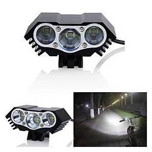 LED Bike Light Front Bike Light Headlight LED Mountain Bike MTB Bicycle Cycling Waterproof Multiple Modes Super Bright Wide Angle 18650 3000 lm DC Powered Cycl