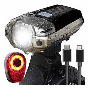 LED Bike Light Rechargeable Bike Light Set Rear Bike Tail Light Safety Light Mountain Bike MTB Bicycle Cycling Waterproof Super Bright Portable Easy Carrying U