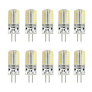 10pcs 3 W LED Bi-pin Lights 300 lm G4 T 48 LED Beads SMD 3014 Warm White White 220-240 V 12 V