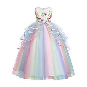 Kid's Child's Little Kids Child Dress Mixed Color Pink White Dresses