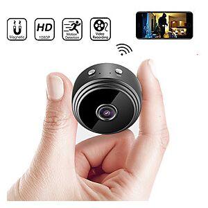 A9 IP Camera Full HD 1080P Mini Camera Night Vision 2MP Wireless Small Camera 150 Degrees Wide Angle WIFI Micro Camera Outdoor Home Security Surveillance Remot