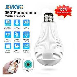 ICSEE HD 360 Panoramic Wifi 1080P IP Camera Light Bulb Home Security Video Camera Wireless CCTV Surveillance Fisheye Network