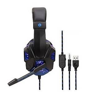 Soyto SY830MV Gaming Headset USB and 3.5mm Headphones Microphone Combo Cable LED Headphones E-sport for PS4 Gaming