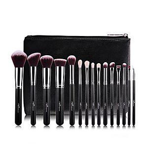 Professional Makeup Brushes Makeup Brush Set 15pcs Professional Full Coverage Artificial Fibre Brush Wood Makeup Brushes for Blush Brush Eyeshadow Brush Makeup