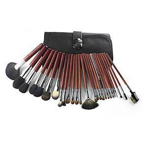 Professional Makeup Brushes 20pcs Full Coverage Wooden / Bamboo for Eyebrow Color