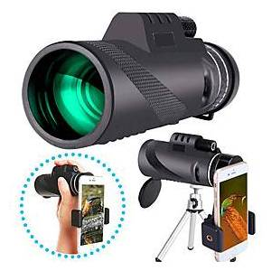 40 X 60 mm Monocular with Phone Clip and Tripod Waterproof Portable Durable Lightweight 7 m Multi-coated BAK4 Camping / Hiking Hunting Fishing / with Tripod Mo