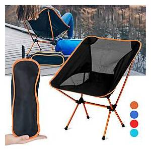 Camping Chair Portable Ultra Light (UL) Foldable Breathable Aluminium Alloy 7005 Mesh Oxford for 1 person Fishing Beach Camping Travel Autumn / Fall Winter Fuc
