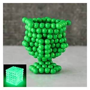 216 pcs 5mm Magnet Toy Magnetic Balls Building Blocks Super Strong Rare-Earth Magnets Neodymium Magnet Neodymium Magnet Luminous Glow in the Dark Stress and An