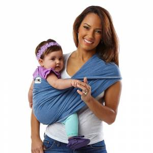 Baby K'tan ORIGINAL Baby Carrier, Denim, Extra Small, Size: XS, Blue