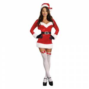 Dreamgirl Halloween Women's Santa Baby Costume X-Large, Size: XL, Red