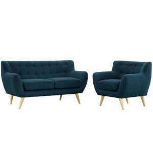 Modway Remark 2pc Living Room Set Azure - Modway, Size: Set of 2, Blue